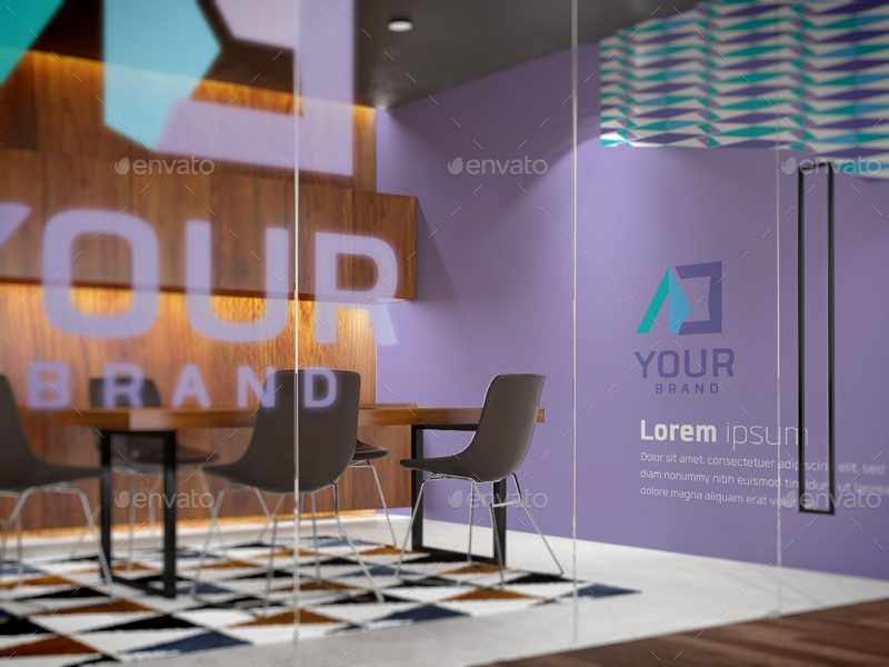 01 Office Interior Branding Mockups V3 02 03