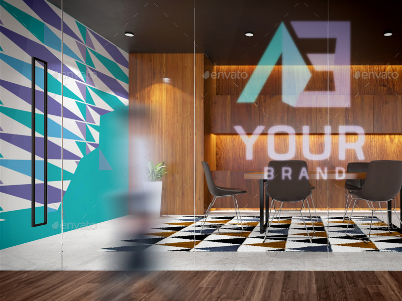 10 Office Interior Branding Mockups V3