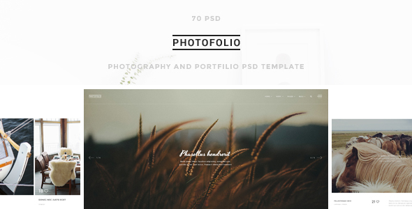 Photofolio – Photography & Portfolio PSD Template