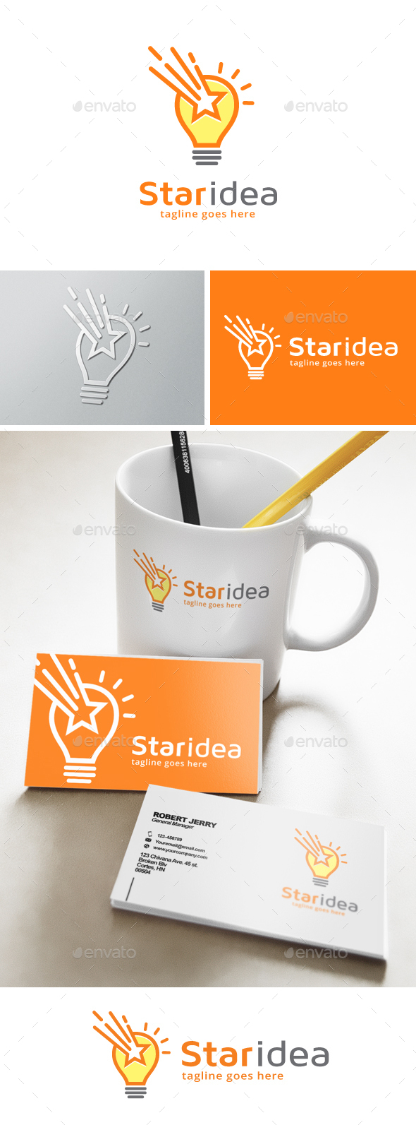 Star Creative Idea Logo - Symbols Logo Templates