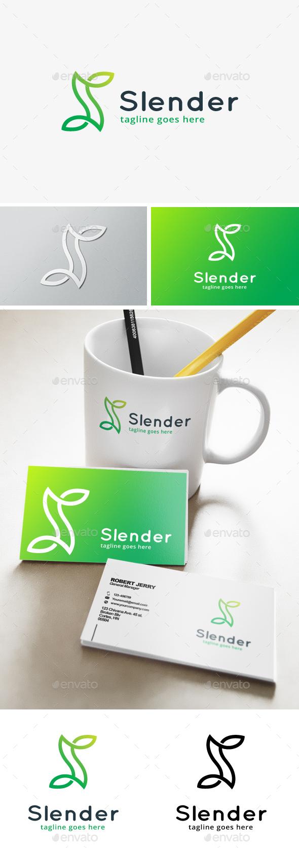 Slender Creative Line Letter S Logo - Letters Logo Templates