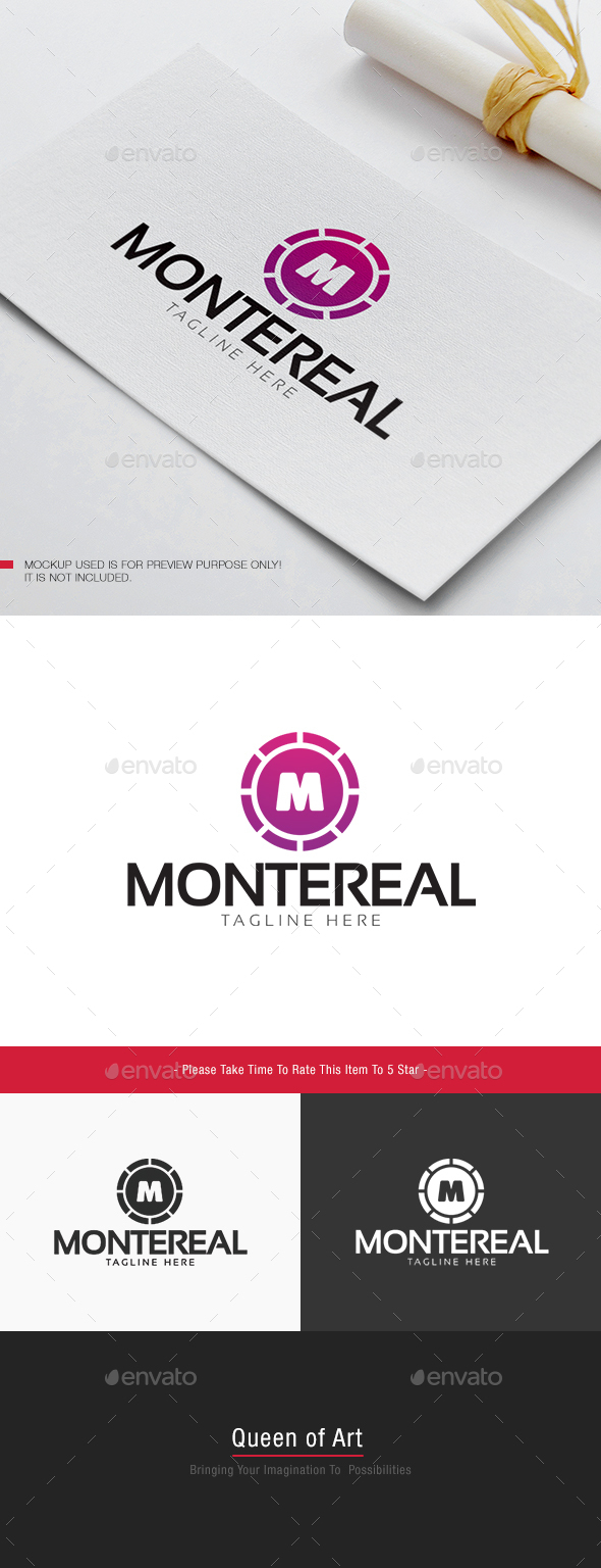 Montereal Logo - Letters Logo Templates