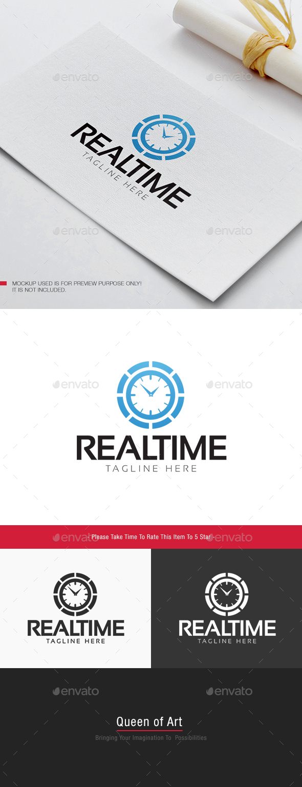 Real Time Logo - Objects Logo Templates