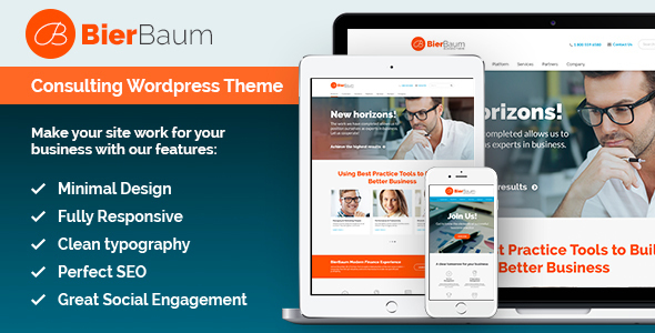 Bierbaum – Business Consulting Agency Theme