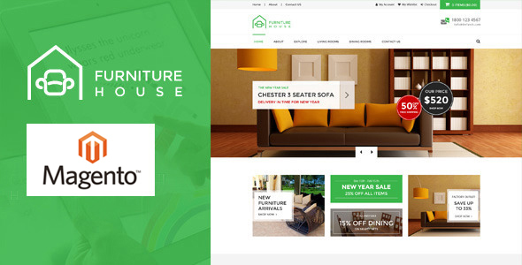 Furniture – Responsive Magento Theme