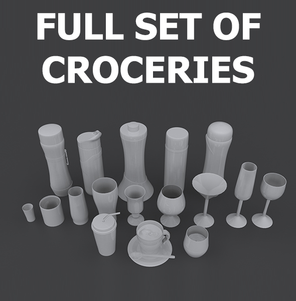 Set of Croceries - 3DOcean Item for Sale