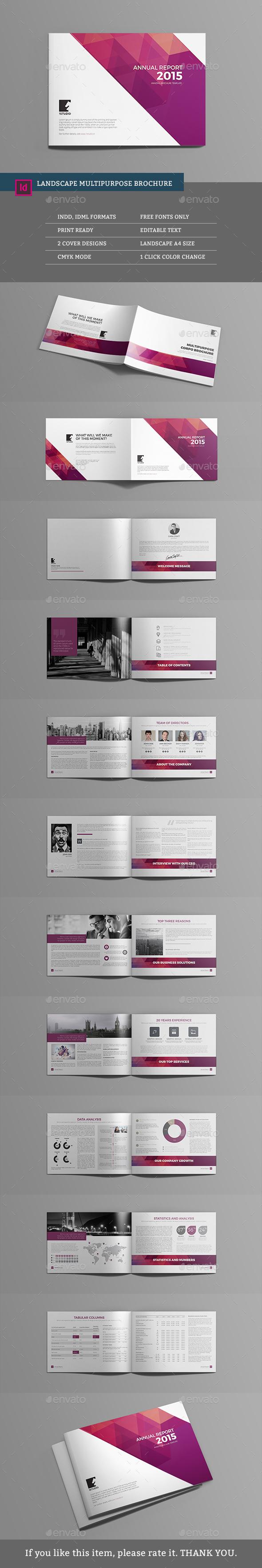 Landscape Multipurpose Brochure - Corporate Brochures