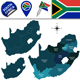 Map of South Africa - GraphicRiver Item for Sale