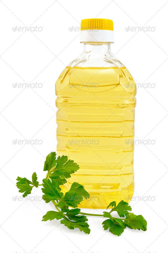 Vegetable oil with parsley - Stock Photo - Images
