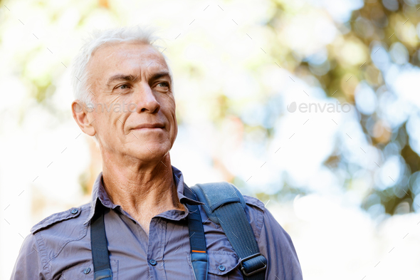 Handsome mature man outdoors - Stock Photo - Images