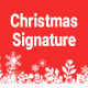 Christmas Email Signature PSD - GraphicRiver Item for Sale