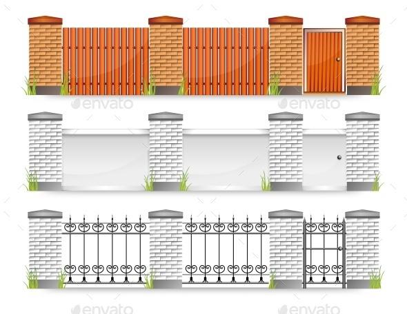 Fences with Gate - Landscapes Nature