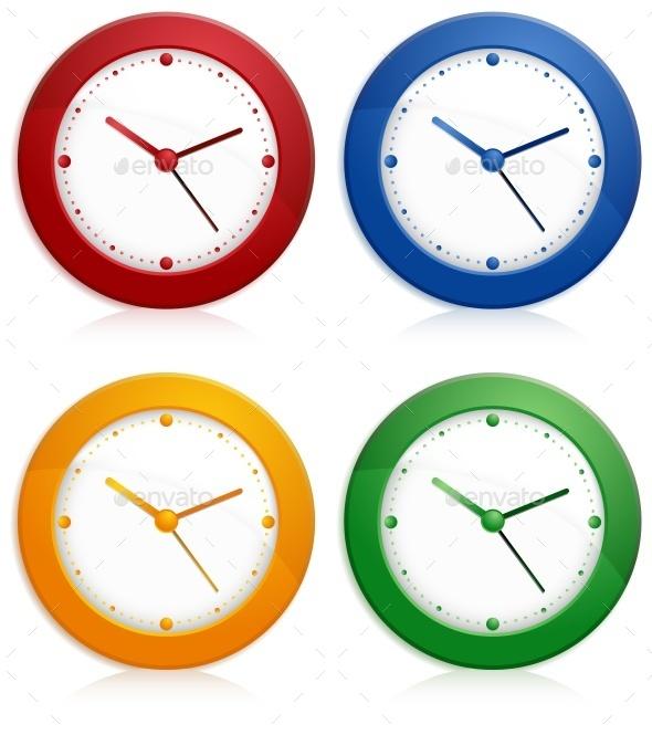 Color Wall Clocks - Landscapes Nature