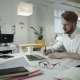 Handsome Businessman Working At The Office - VideoHive Item for Sale