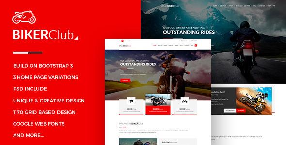BikersClub – HTML Template