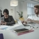 Two Business Persons Working In The Office - VideoHive Item for Sale