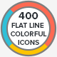 Trendy Flat Line Colorful Icons - GraphicRiver Item for Sale
