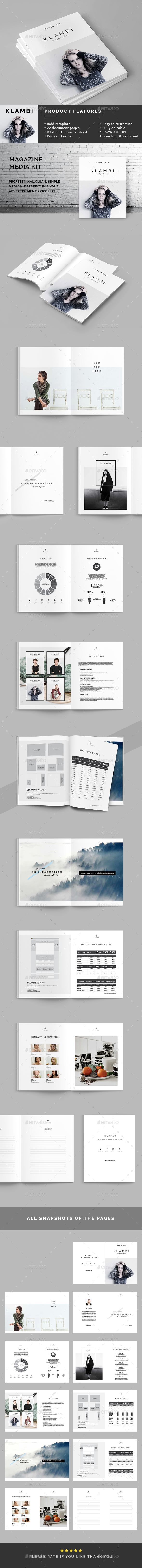 Magazine media kit by boxkayu graphicriver magazine media kit magazines print templates pronofoot35fo Image collections