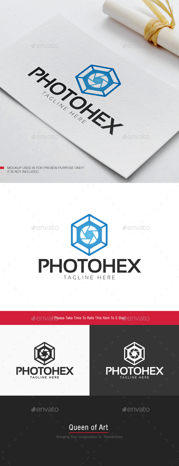 Photo Hex Logo - Objects Logo Templates