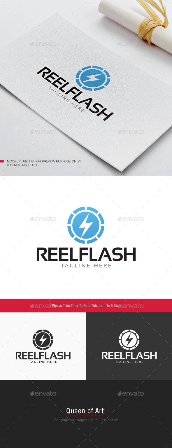 Reel Flash Logo - Objects Logo Templates
