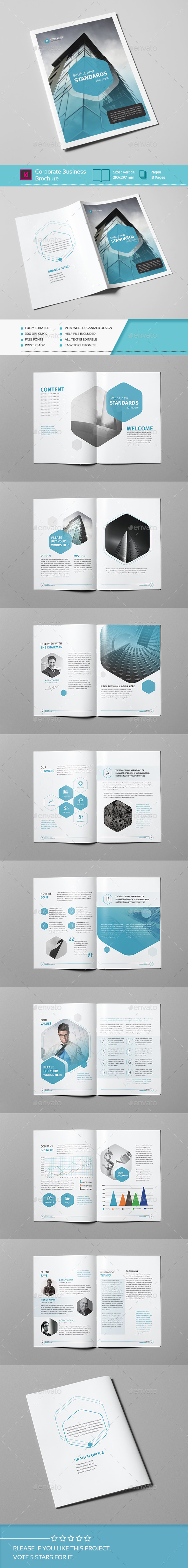 Corporate Business Brochure 18 Pages A4 - Corporate Brochures