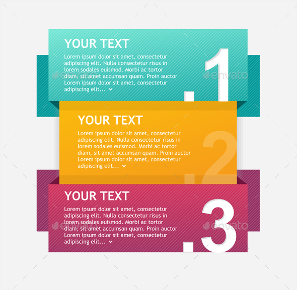 Colorful Infographics Options Banner. Vector - Business Conceptual