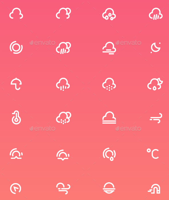 Weather Icons Set - Miscellaneous Icons
