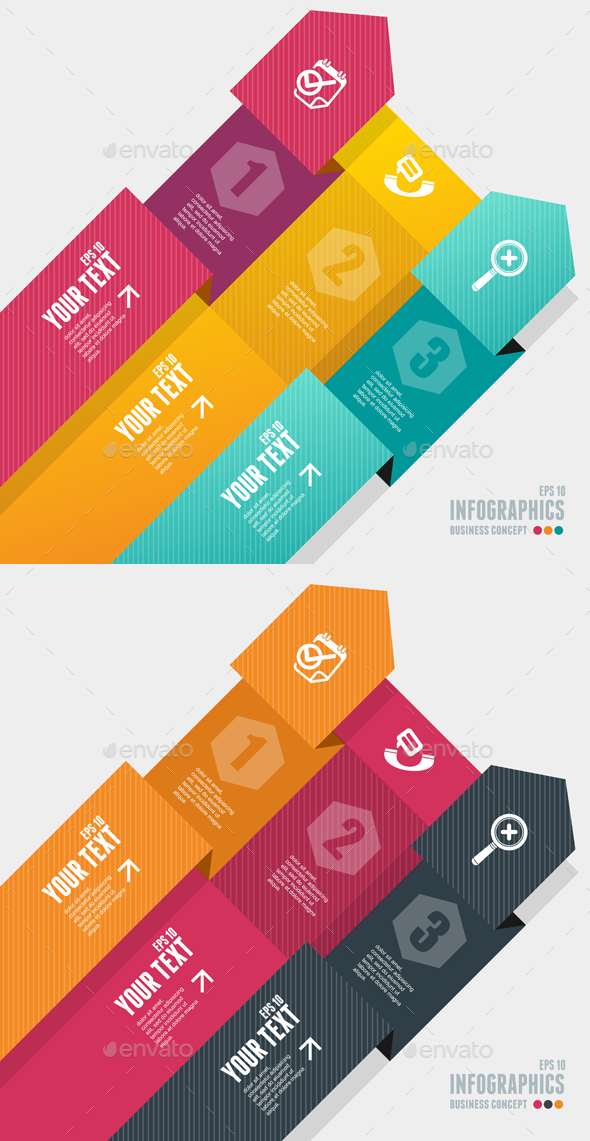 Modern Infographics Options Banner. Vector - Business Conceptual