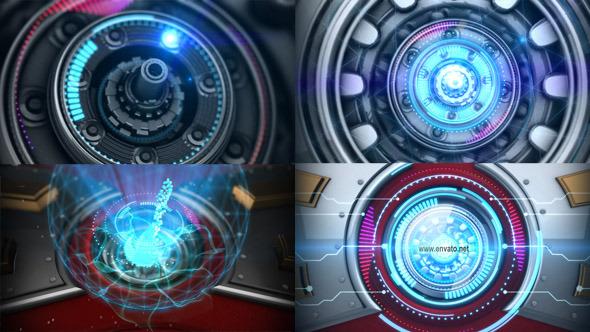 sci fi arc reactor logo reveal by xenonxenon videohive