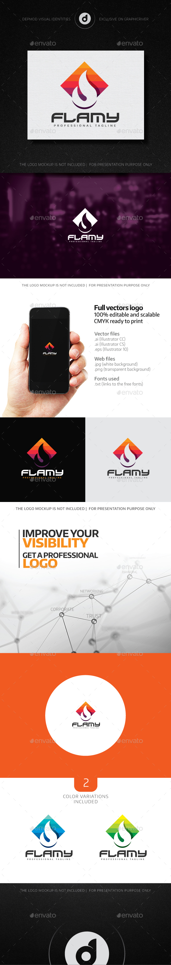 Flamy Logo - Symbols Logo Templates