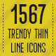 1567 Trendy Thin Line Icons - GraphicRiver Item for Sale