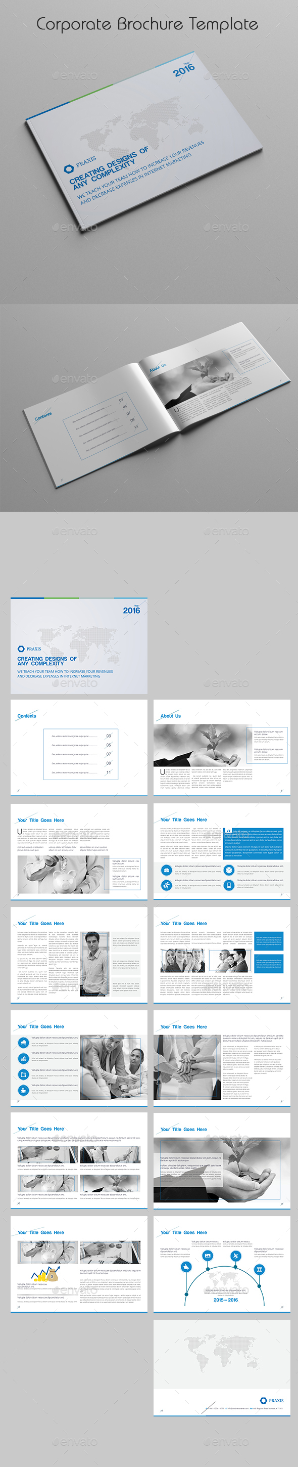 Corporate Brochure Template - Corporate Business Cards