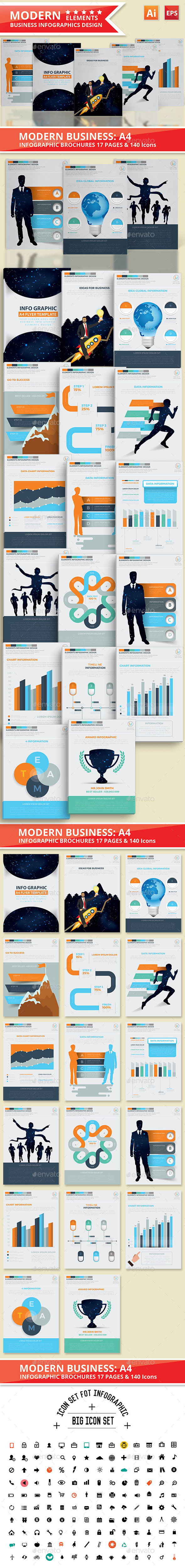 Modern Business Infographics Design - Infographics
