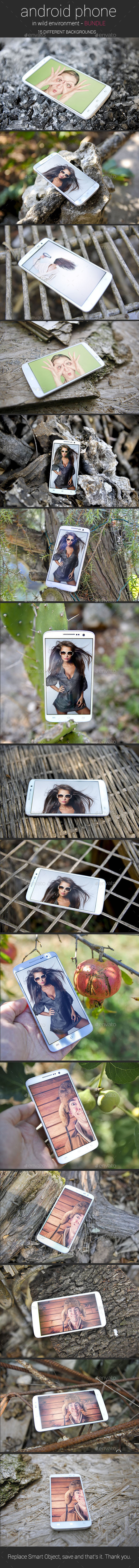 Android Phone in Wild Environment Bundle - Mobile Displays