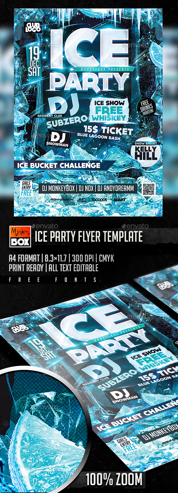 Ice Party Flyer Template - Clubs & Parties Events