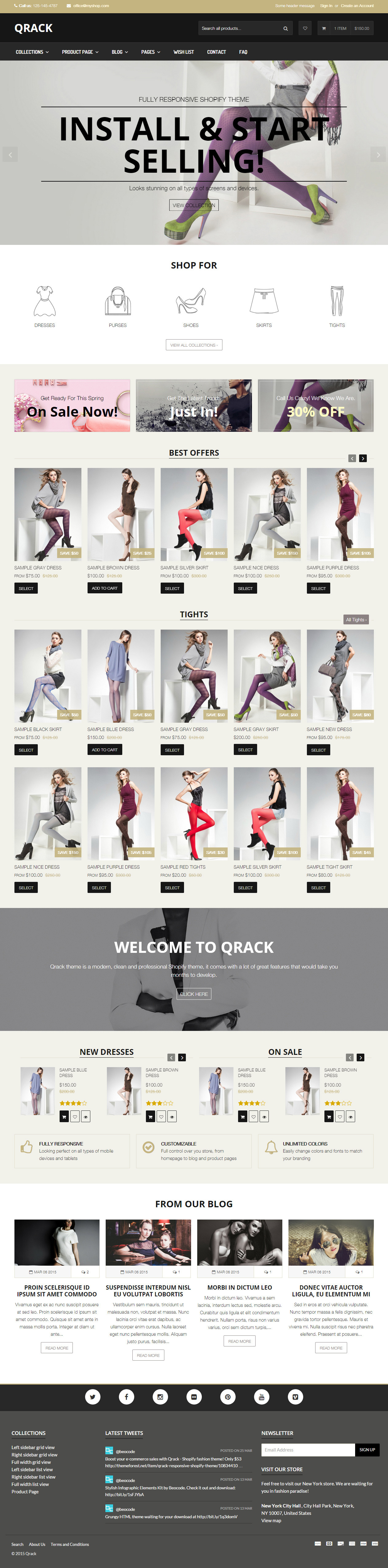 Qrack - Responsive Html Shop Template by beocode | ThemeForest