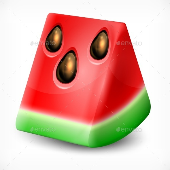 Watermelon on White - Food Objects