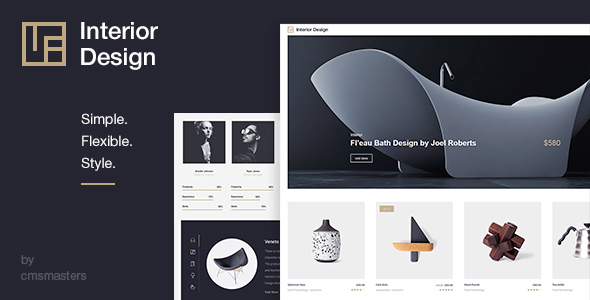 Interior design architecture design wp theme by cmsmasters themeforest for Interior design wordpress theme