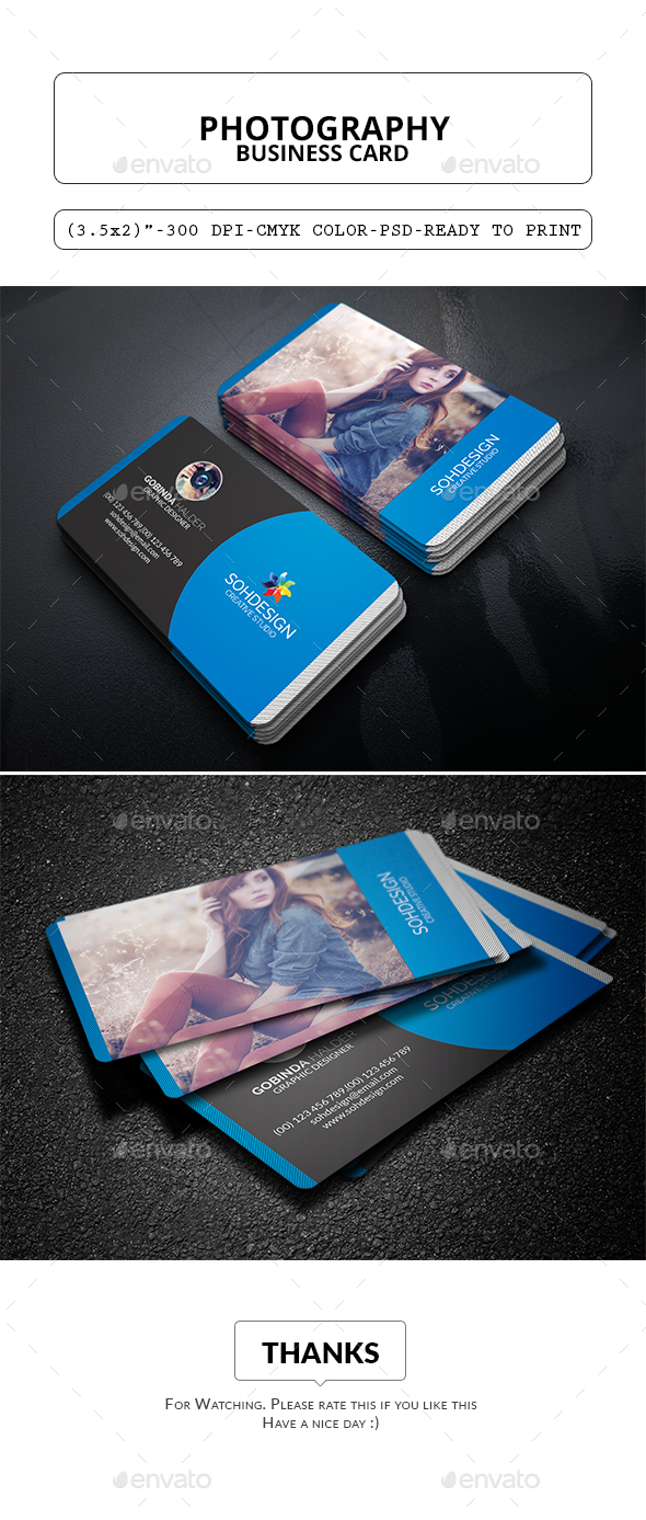 Photography Business Card Template - Corporate Business Cards