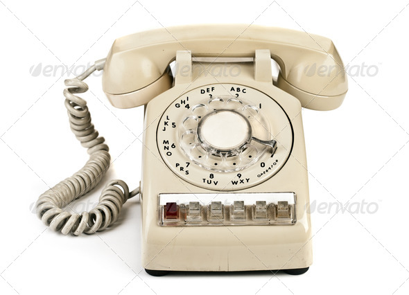 dial retro phone - Stock Photo - Images