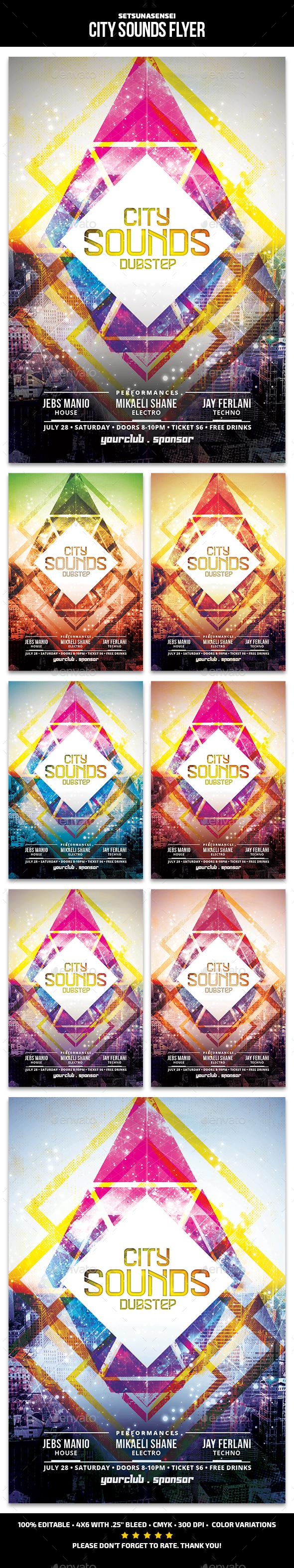 City Sounds Flyer - Clubs & Parties Events