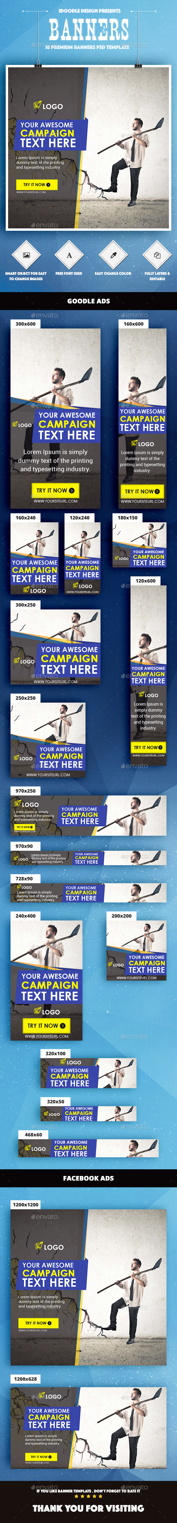 Multipurpose Banners Ad - Banners & Ads Web Elements