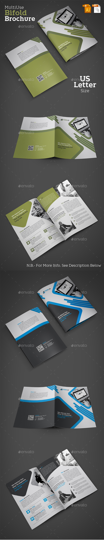 Bifold Corporate Brochure - Brochures Print Templates