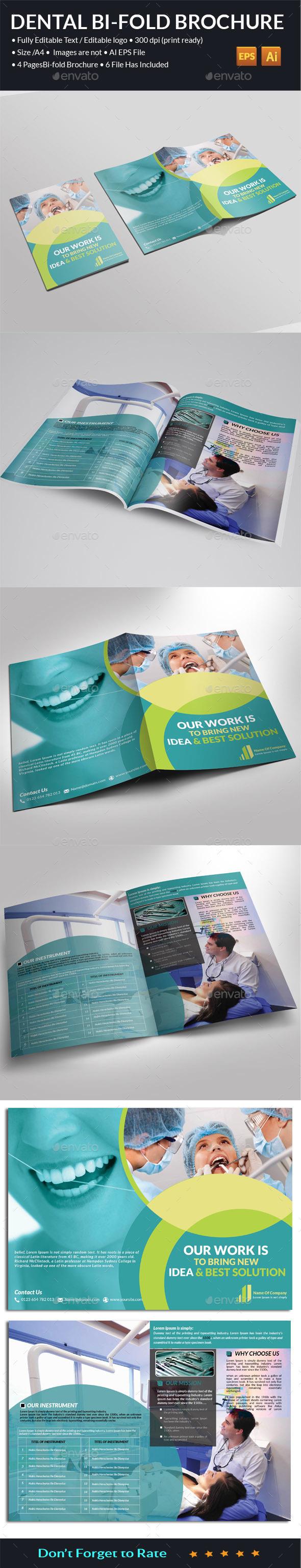 Dental Bi-Fold Brochure   - Brochures Print Templates