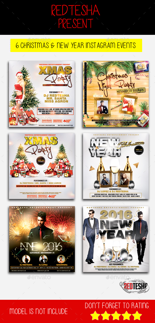 Christmas & New Year Instagram Banner - Banners & Ads Web Elements