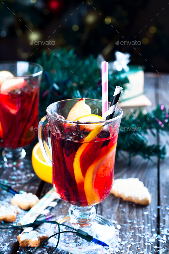 spices and mulled wine - Stock Photo - Images