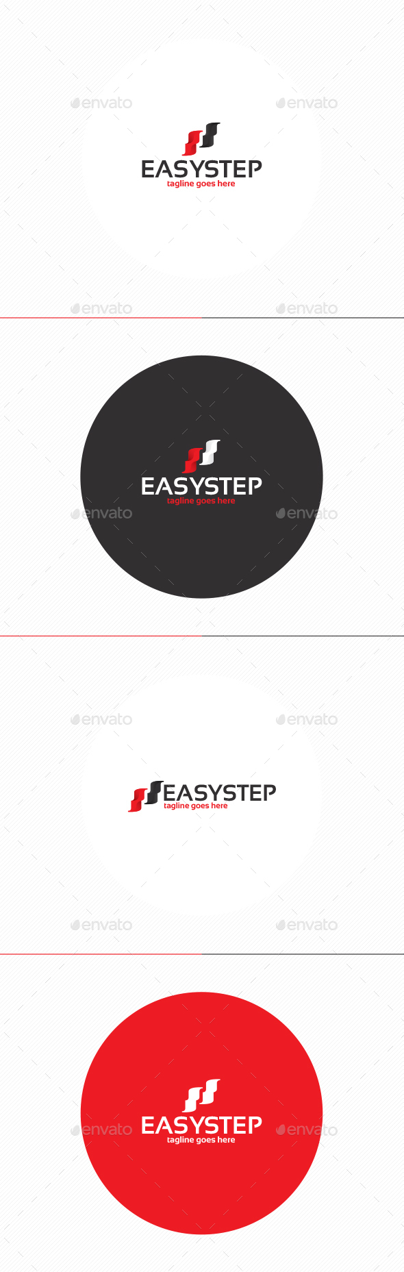 Easy Step Logo - Vector Abstract