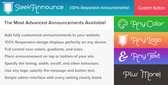 SleekAnnounce Responsive Banner Announcements - CodeCanyon Item for Sale