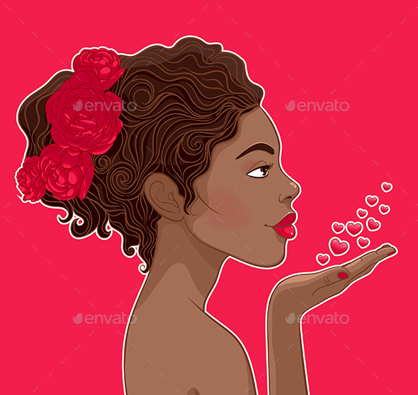 African-American Woman in Love - People Characters