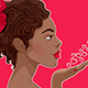 African-American Woman in Love - GraphicRiver Item for Sale
